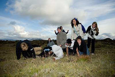 young people on expedition