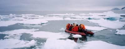 zodiac in arctic waters