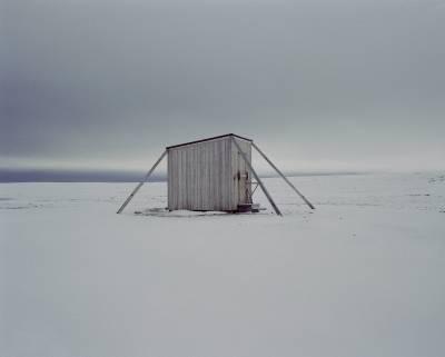 hut in Arctic landscape