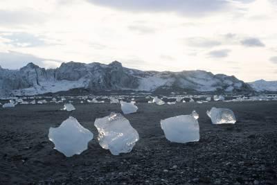 glacier ice on Arctic beach