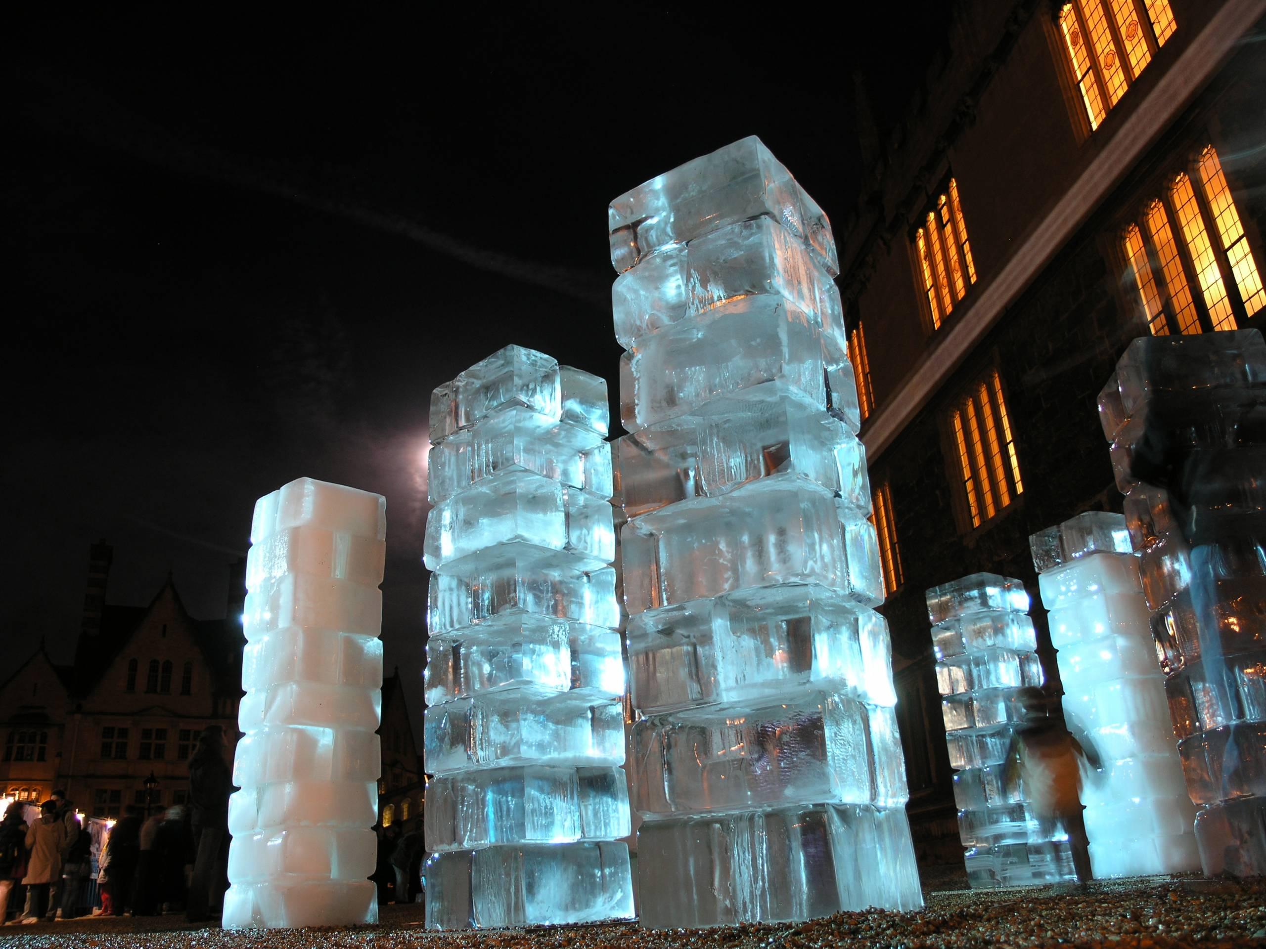 ice sculpture installation