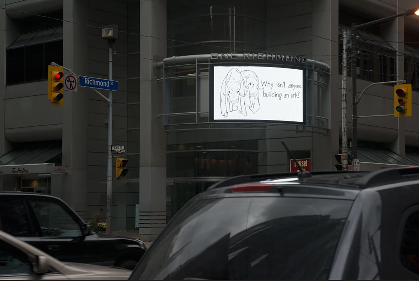 artwork on urban screen