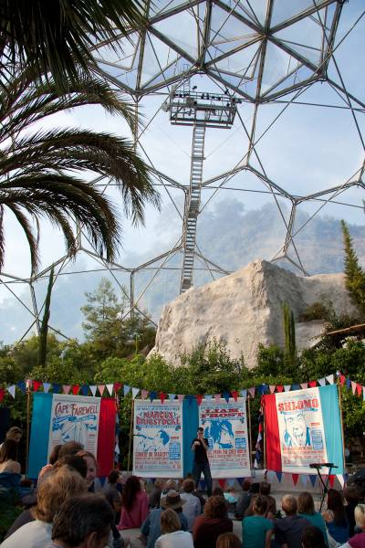gig in the Eden Project biome