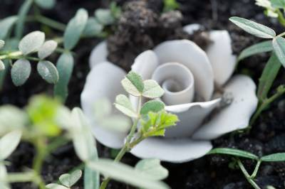clay flower detail