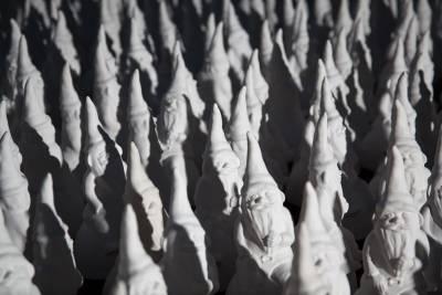 vast installation of garden gnomes