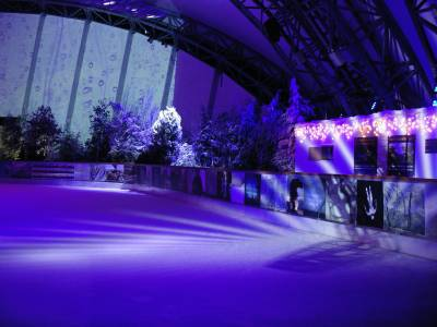 projections at ice rink