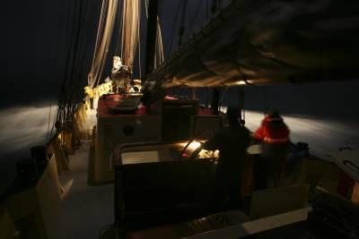sail boat in Arctic sea