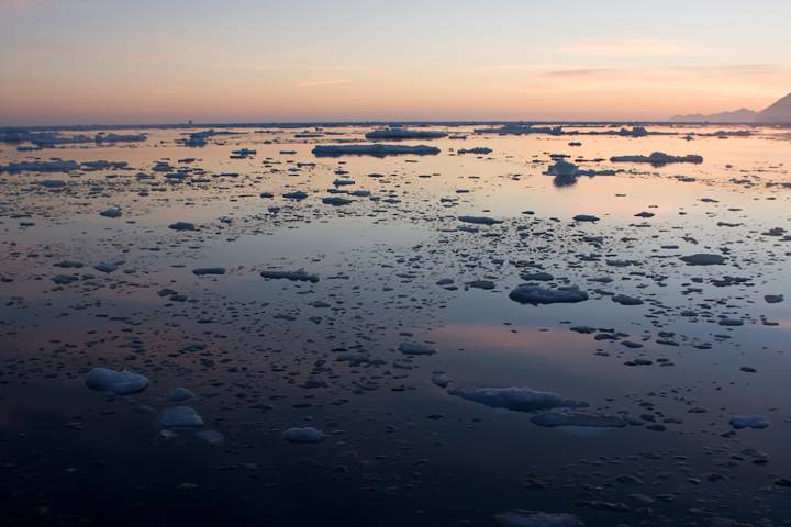 sea ice in Arctic waters