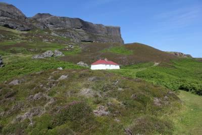 building in vast landscape