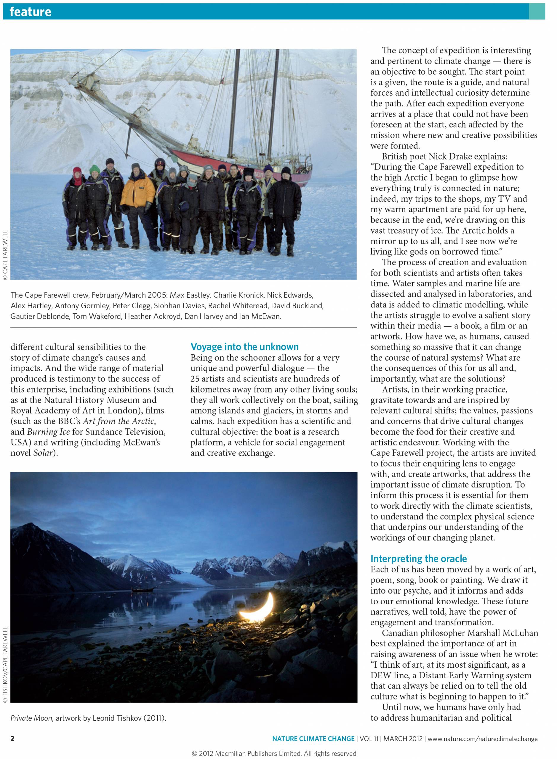magazine article page
