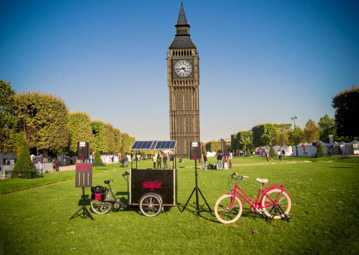 cycle powered sound system