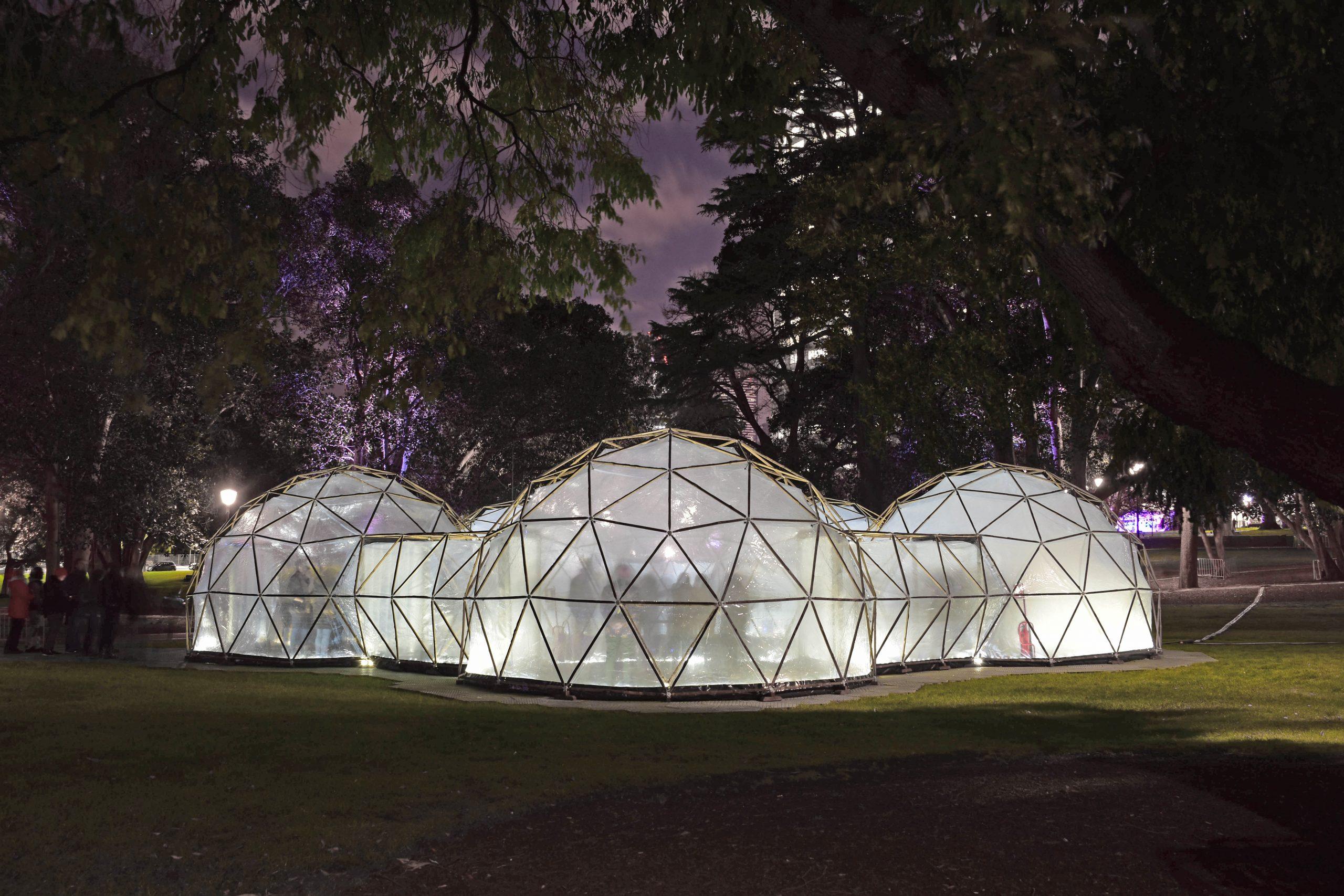 biome artwork installation