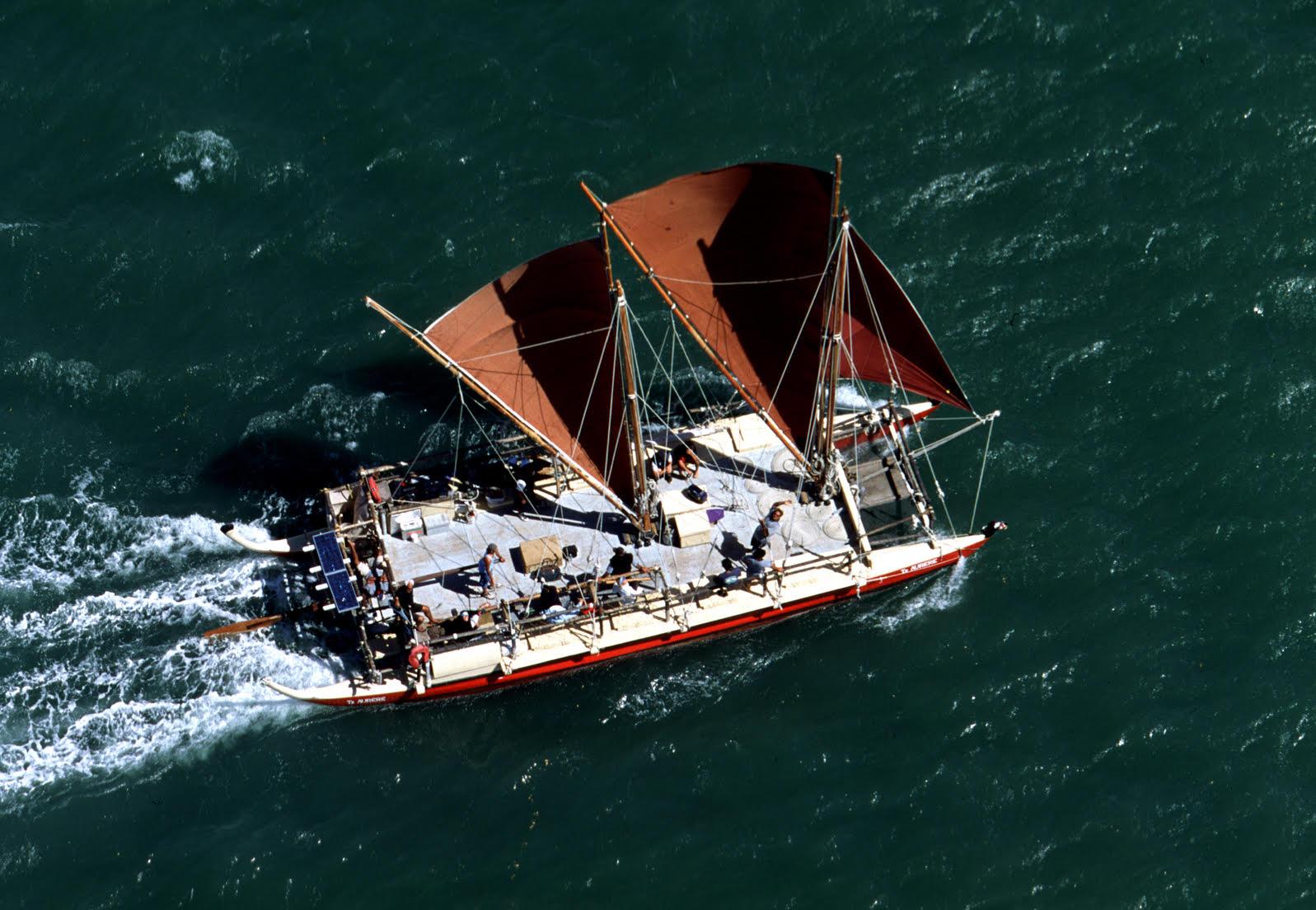 Okeanos Foundation for the Sea sailing canoes