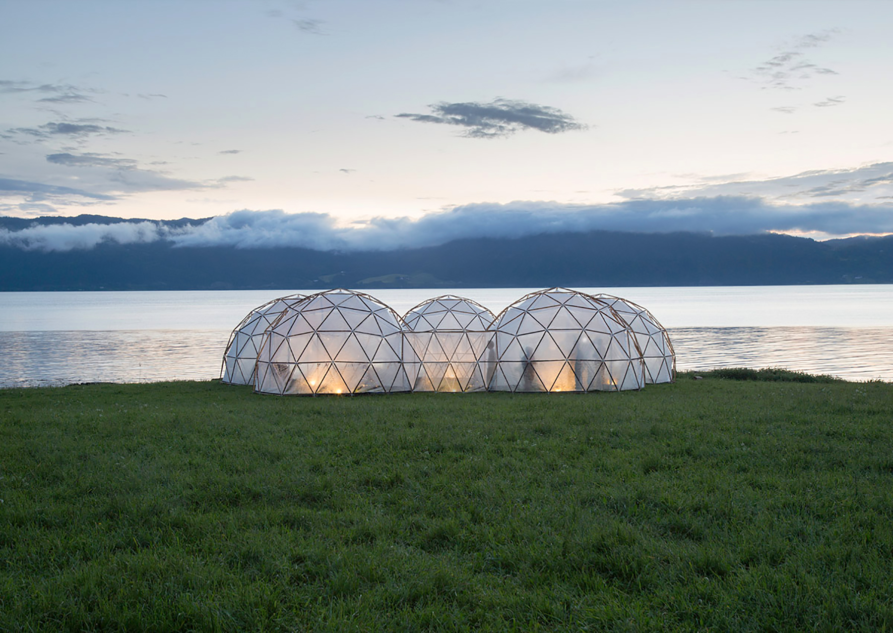 translucent biomes installed on a remote nordic island