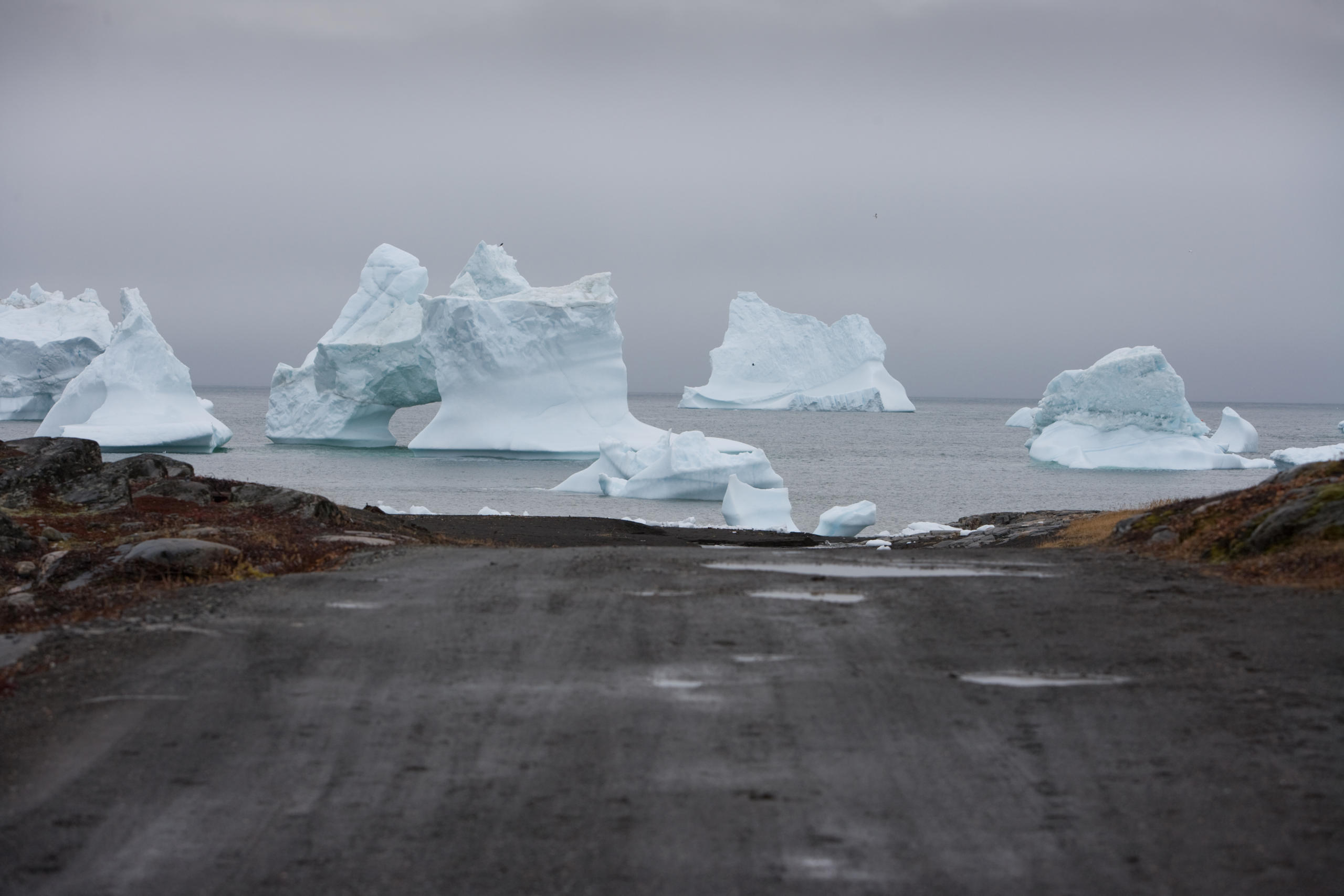 icebergs at the end of the road