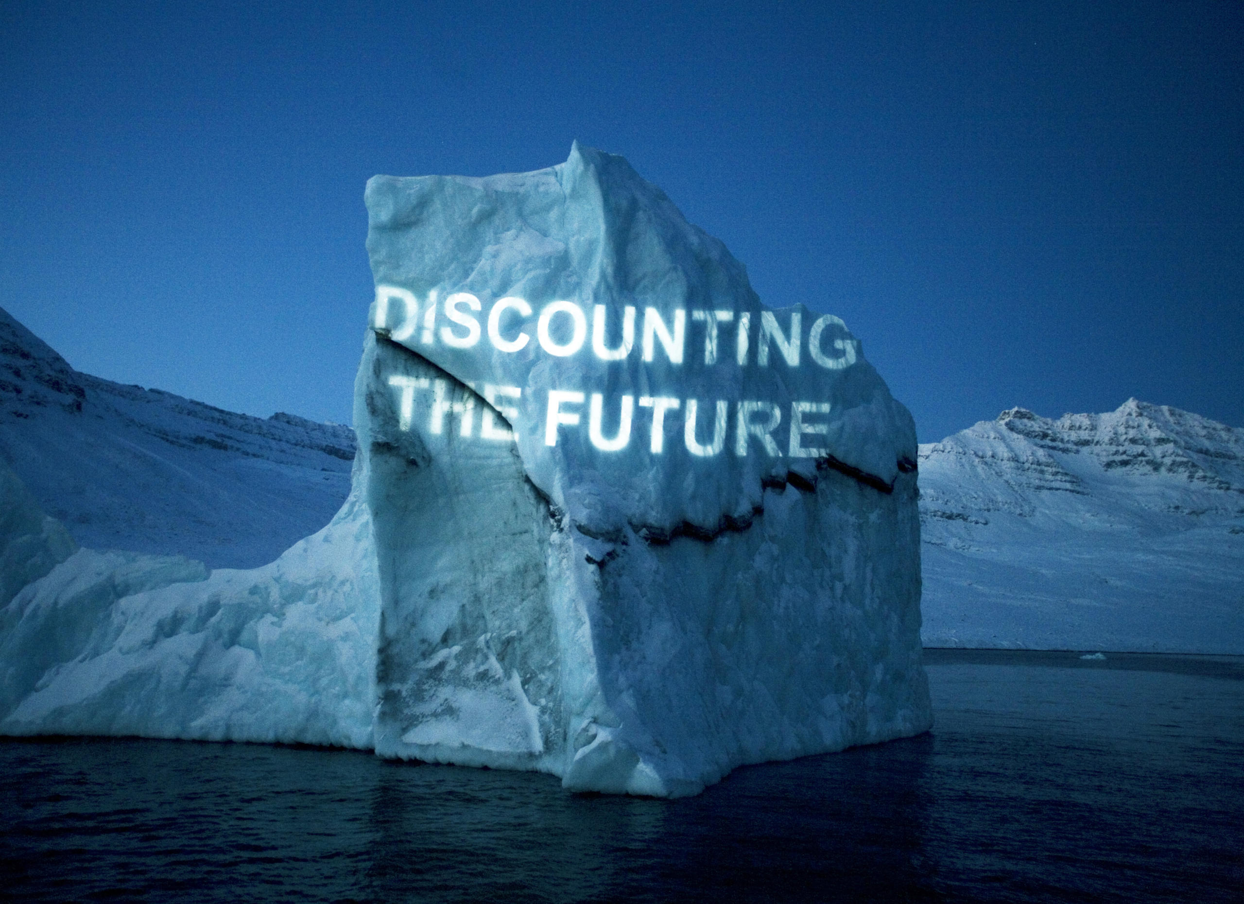 Discounting the Future projected onto an iceberg