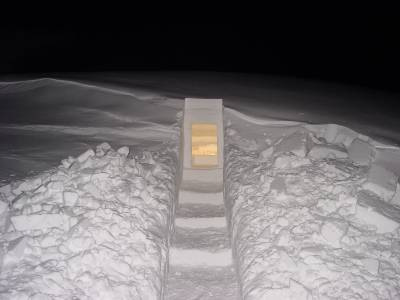 room carved from ice
