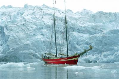 sailing boat in Arctic waters