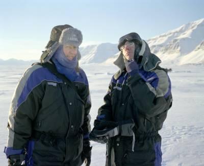 two men in Arctic gear
