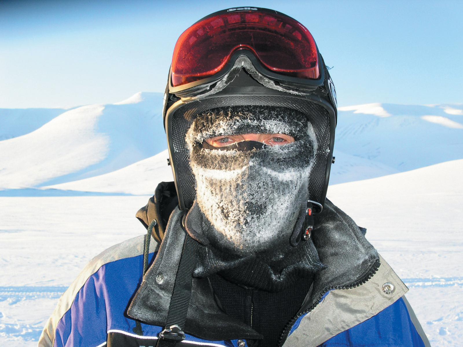 portrait in Arctic gear