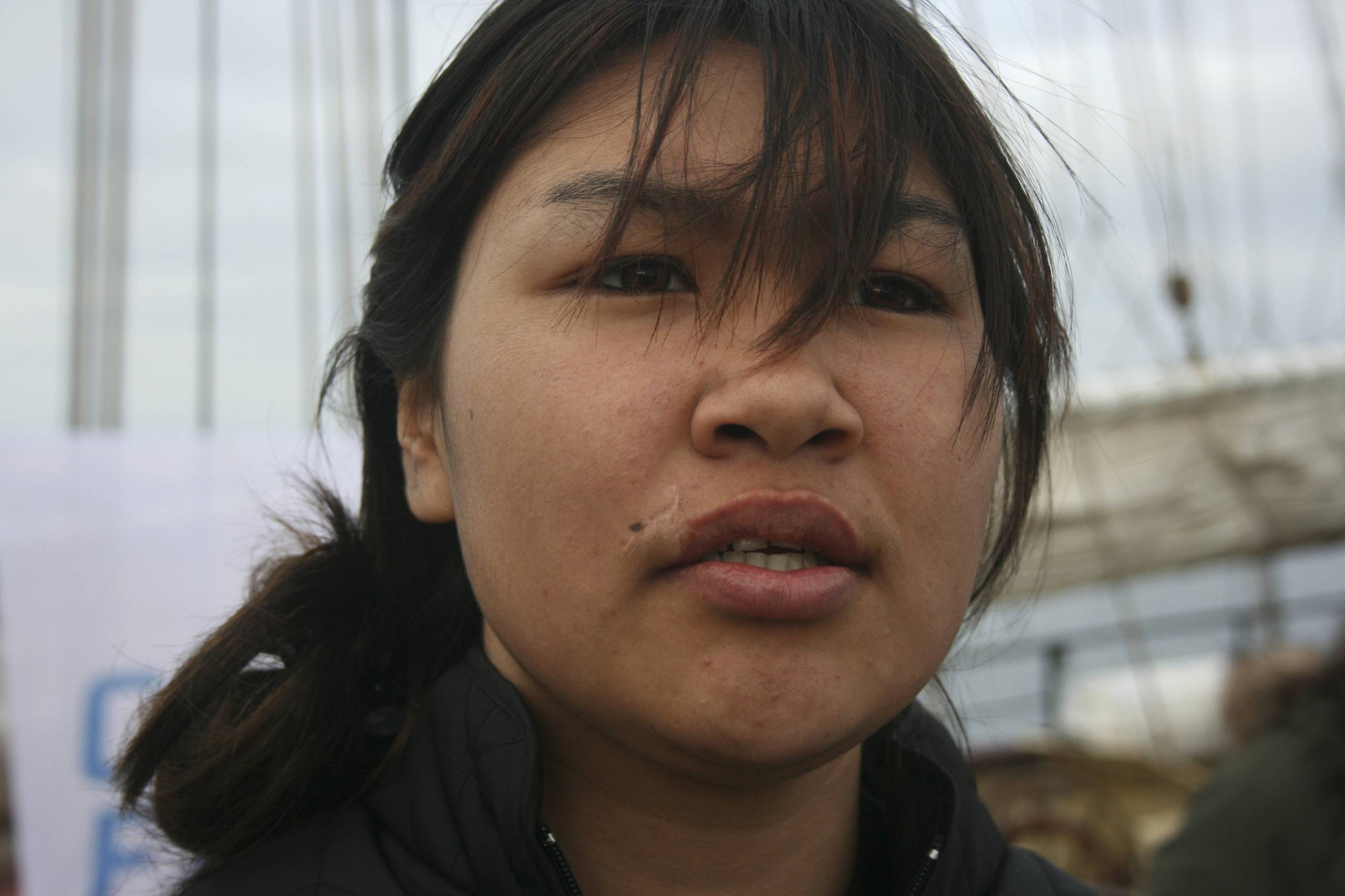 portrait of a young inuit woman