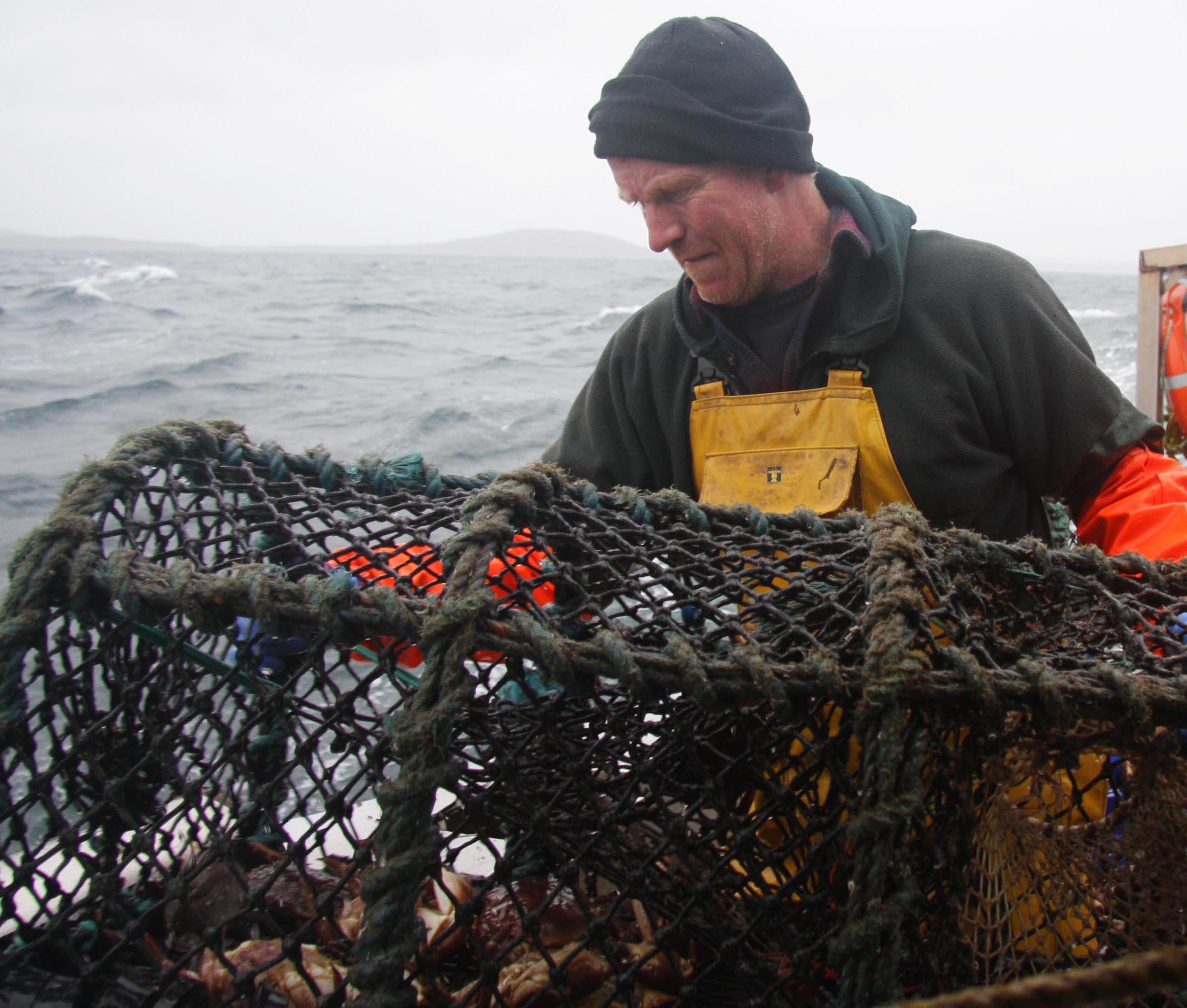 man on fishing boat