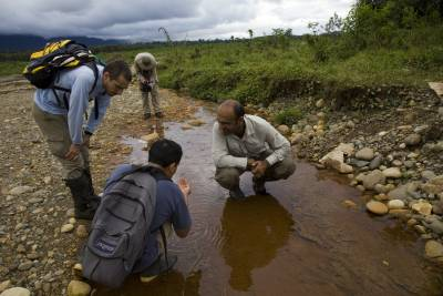 expedition group investigates water
