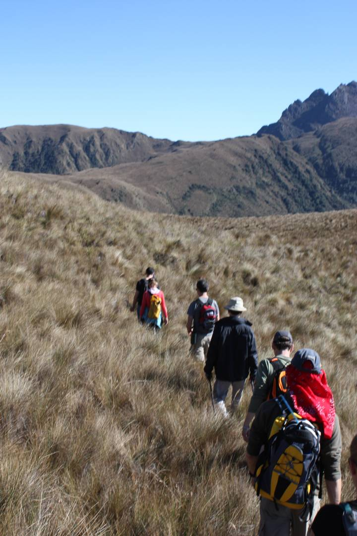 expedition crew walking